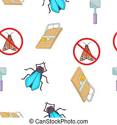 Insects sign pattern, cartoon style