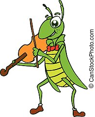 Insects vector with violin t-shirt design