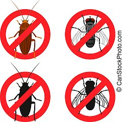 Insects warning signs