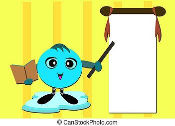 insegnamento, messaggio, classe, puntino