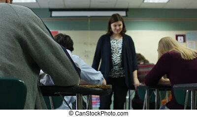 insegnante, controllo, prova