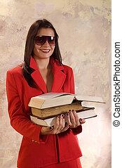 insegnante, e, libri