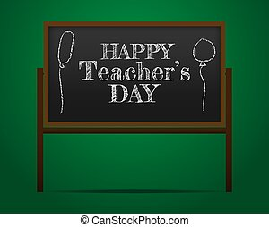 insegnante, manifesto, creativo, s, felice, bandiera, o, giorno, bello