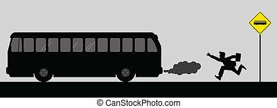 inseguire, il, autobus