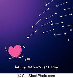 inseguito, amore, lotto, arrows.