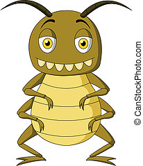 insekt, karikatur
