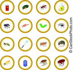 insekt, kreis, ikone