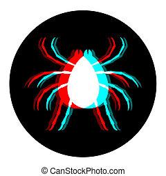 insekt, syns-, ikon