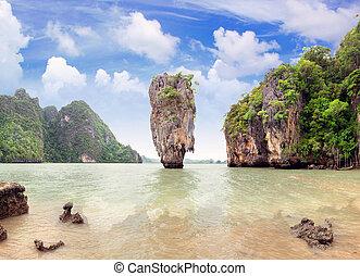 insel, james, thailand, nga, phang, bindung