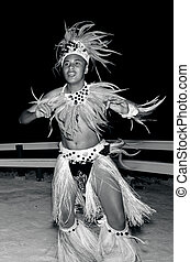 insel, tänzer, junger, pazifik, tahitian, polynesian, mann