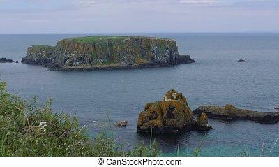 inseln, an, seil, a, brücke, nordirland, -, eingestuft,...
