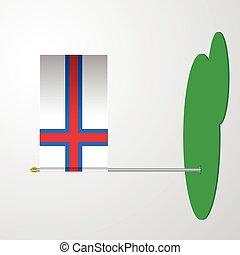 inseln, faroe, beflaggen stange