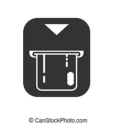 Insert credit card icon. Shopping sign. Bank ATM symbol.