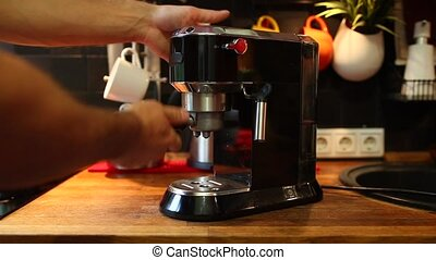 insert the Holder from the coffee into the coffee machine