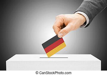insertar, caja, concepto, -, votación, bandera, alemania,...