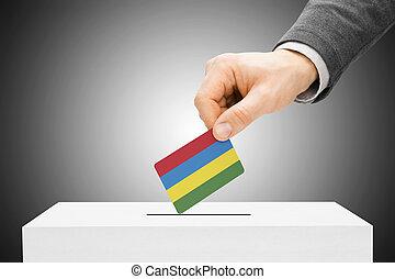 insertar, caja, concepto, -, votación, bandera de isla...