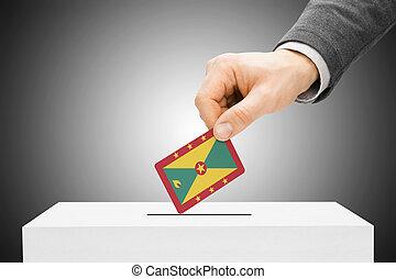 insertar, caja, concepto, -, votación, bandera, granada,...