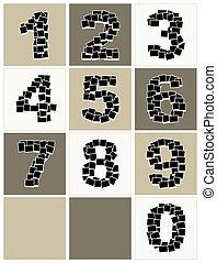 insertar, hecho, fotos, foto encuadra, números, su