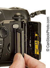 Inserting or Removing a Memory Card