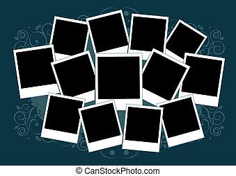inserto, immagine, collage, cornice, photos., template., tuo