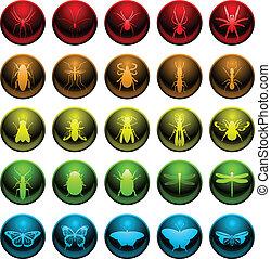 inseto, jogo, aranha, ícone