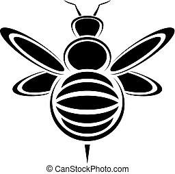 inseto, pretas, ícone
