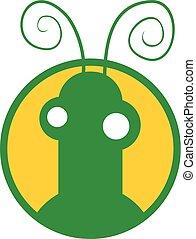 inseto, verde, ícone