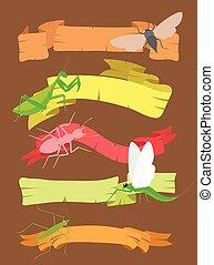 insetos, bandeiras