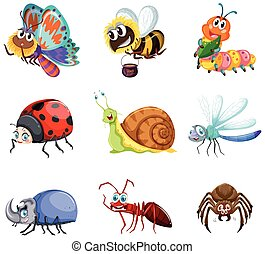 insetos, diferente, tipos