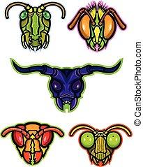 insetos, mascote, cobrança
