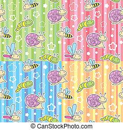 insetos, padrões