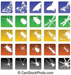 insetto, icone
