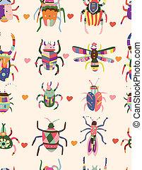 insetto, modello, seamless