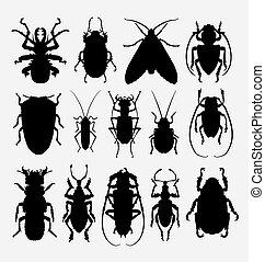insetto, silhouette, insetto