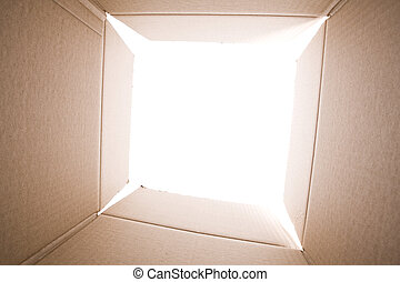 insida, den, kartong kasse