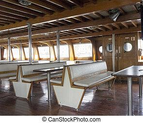 inside a ferry boat - view inside a ferry boat