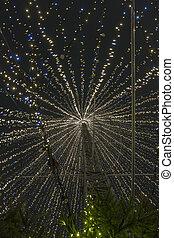 Inside a modern christmas tree