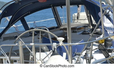 Inside a Modern Sailboat - View of a modern sailboat.