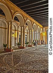Inside a the Alcazar Reales