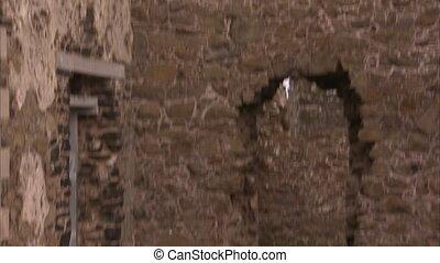 Inside an old castle in Ireland