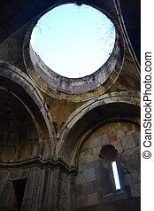 Inside ancient monastery
