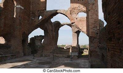 Inside ancient Roman villa along via Appia - Villa of the...