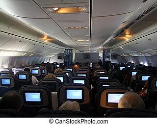 Inside Boeing. Plane seats