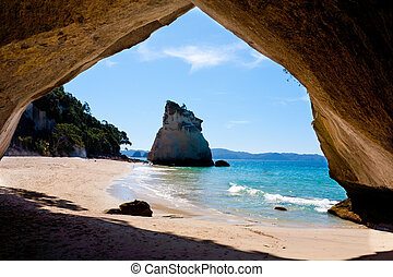 Cathedral Cove - Inside Cathedral Cove North Island New...
