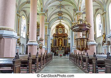 inside church of San Cristobal