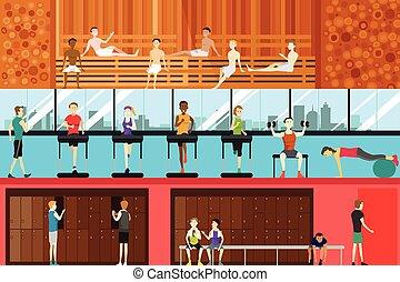 Inside Gym Scene