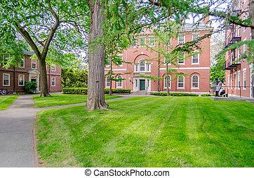 Inside Harvard University Campus, Cambridge, USA