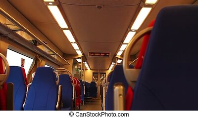 Inside High Speed Train - HD1080: Inside Railway Carriage....
