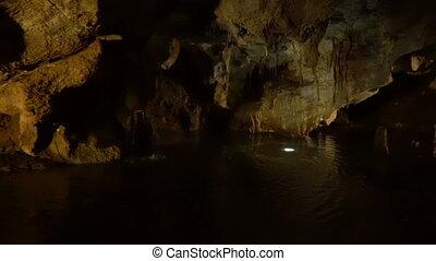 inside Lipa Cave near Cetinje in Montenegro