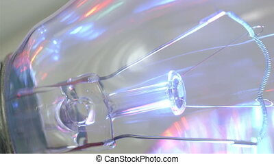 Inside look of the bulb wires